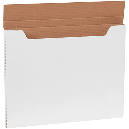 "Jumbo Fold-Over Mailers - 20"" x 16"" x 1"", White, 20/Bundle"