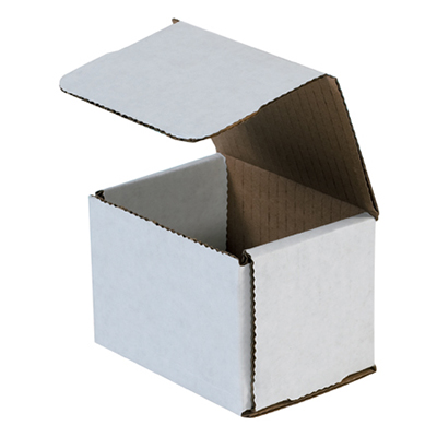 Corrugated Mailer - 4in x 3in x 2in, White