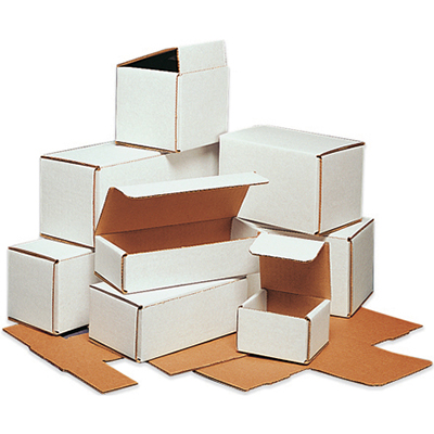 "Corrugated Mailer - 9"" x 6"" x 3"", White, 50/Bundle"