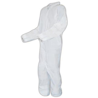 Magid® EconoWear® Microporous Coveralls, Elastic Wrists and Ankles, White, XXL, 25 suits