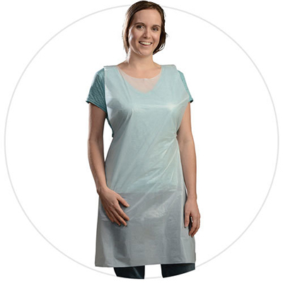 Tradex® Ambitex® Heavyweight Polyethylene Apron, 28 in x 46 in, 50 aprons