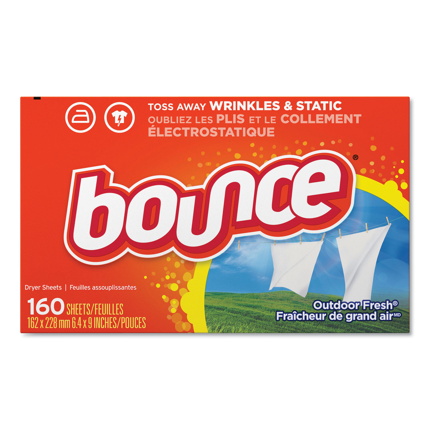 Bounce® Fabric Softener Sheets - 160 Count, 6/Case