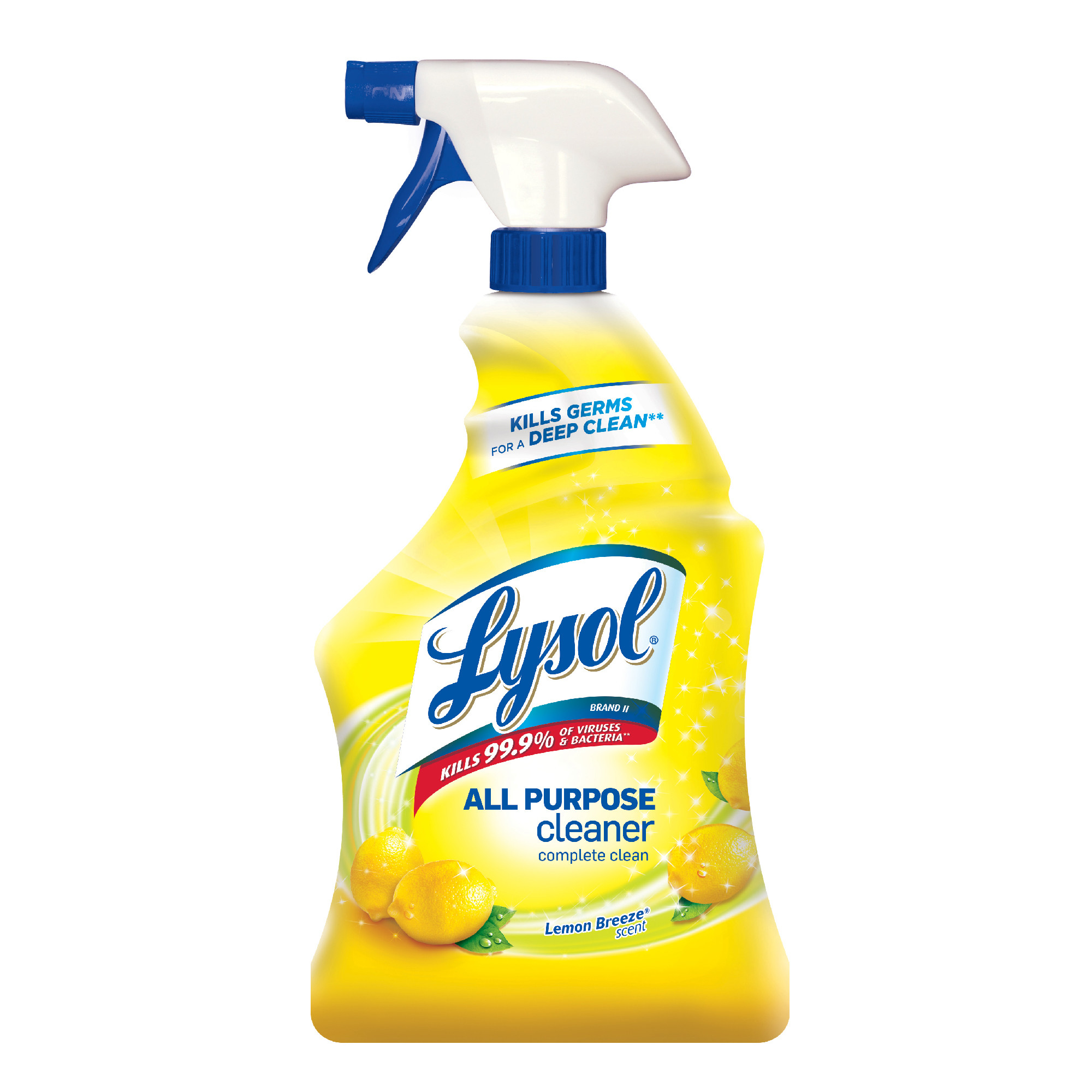 Lysol® All Purpose Cleaner - Lemon Breeze, 32 oz, 12/Case