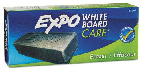 Expo® White Board Eraser - Soft Pile, 5-1/8 in x 1-1/4 in, 12 erasers